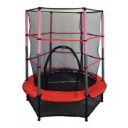 Capetan® Kiddy Jump 140cm trambulin védőhálóval és alsó biztonsági védőszoknyával