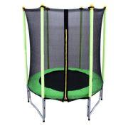 Capetan® Garden Jump Premium W lábakkal szerelt kül/beltéri horganyzott vázú 140cm átmérőjű gyermek trambulin védőhálóval