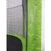 Capetan® Selector Lime 487 cm 180Kg terhelhetőséggel - hosszú védőháló tartóoszlopokkal, extra megerősített váz rögzítő T elemmel kialakított, kiemelkedően magas védőhálóval - kültéri prémium trambulin vastag szivaccsal , 89 cm magas ugrálófelülette