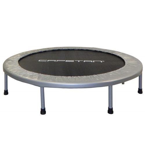 Capetan® Fit Fly Silver To Fold összecsukható 122cm trambulin, ezüsz szürke rugóvédő szivaccsal, 100kg terhelhetőség