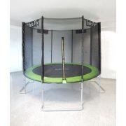 Capetan® Safe Fly extra stabil egyedi lábszerkezetű premium biztonsági trambulin védőhálóval 427 cm átmérővel