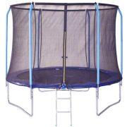 Super Safe 305cm átm. 130Kg terhelhetőségű belsőhálós extra biztonságos trambulin - biztonsági védőkerettel  a védőháló tetején