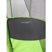 Capetan® Omega 244 cm átm. trambulin védőhálóval Lime színben - megerősített vázszerkezetű prémium trambulin védőhálóval