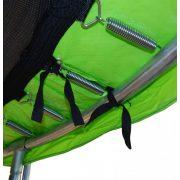 Capetan® 244cm átm. Lime Zöld színű PVC trambulin rugóvédő 20mm vastag szivacsozással, 26 cm rugóvédő felülettel, cca. 23-24 cm széles belső szivacsozással