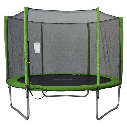 Capetan® Omega 183cm átm. trambuli védőhálóval Lime színben kisgyermekeknek optimalizált 45 cm ugrálófelület magasság