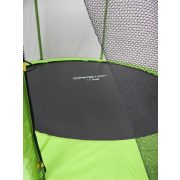 Capetan® Omega 183 cm átm. trambulin védőhálóval Lime színben kisgyermekeknek optimalizált 45 cm ugrálófelület magasság