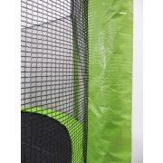 Capetan® Selector Lime 427cm 180Kg terhelhetőséggel - hosszú védőháló tartóoszlopokkal, extra megerősített váz rögzítő T elemmel kialakított, kiemelkedően magas védőhálóval - kültéri prémium trambulin vastag szivaccsal , 80 cm magas ugrálófelülettel