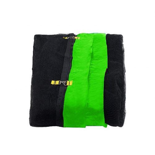 Capetan® 366cm trambulinokhoz pót védőháló (oszlopok és szivacs nélkül) Neon zöld rögzítő zsákkal cca.166cm hálómagasság